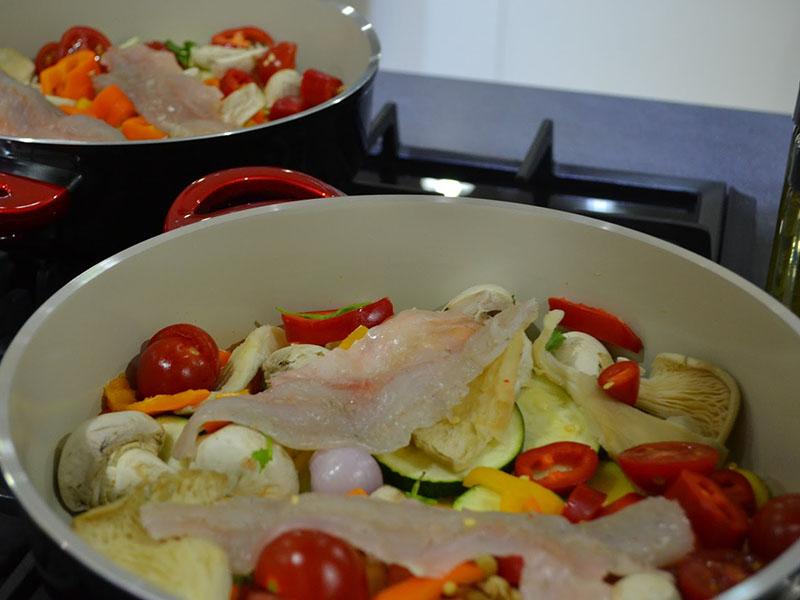 خوراک ماهی قزل آلا - دست پخت بانوی شهر