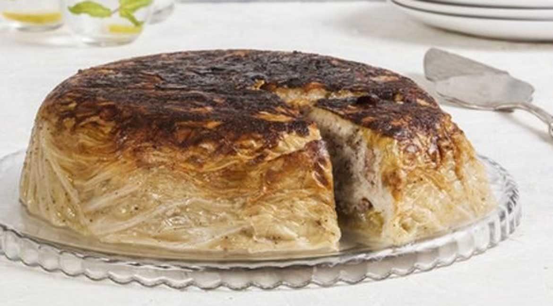 کیک بی نظیر با برگ کلم و گوشت