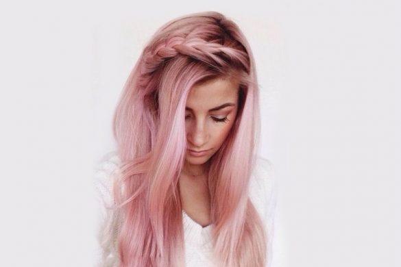 هفت ایده برای رنگ موی طلایی صورتی