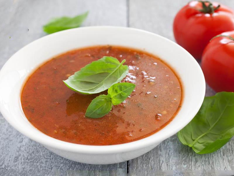 سوپ خامه ای گوجه فرنگی