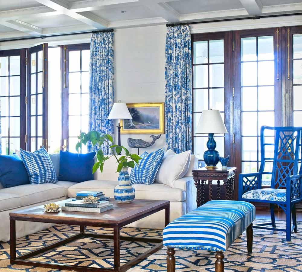 چطور اتاق را با رنگ های آبی و سفید دکور کنیم؟