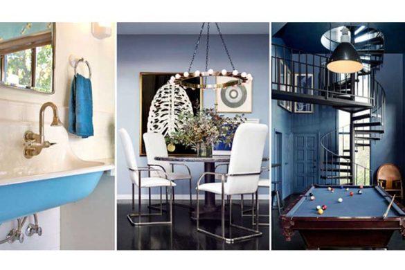 ایده هایی برای به کار گیری رنگ آبی در دکوراسیون خانه