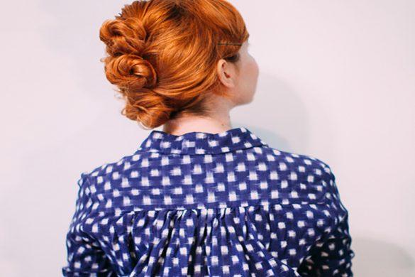 یک مدل ساده برای جمع کردن موهای کوتاه