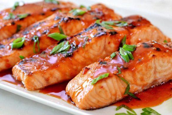 طریقه ی پخت ماهی سالمون در فر خوشمزه و سریع