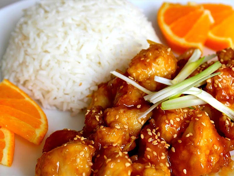 مرغ با سس پرتقال - دستپخت بانوی شهر