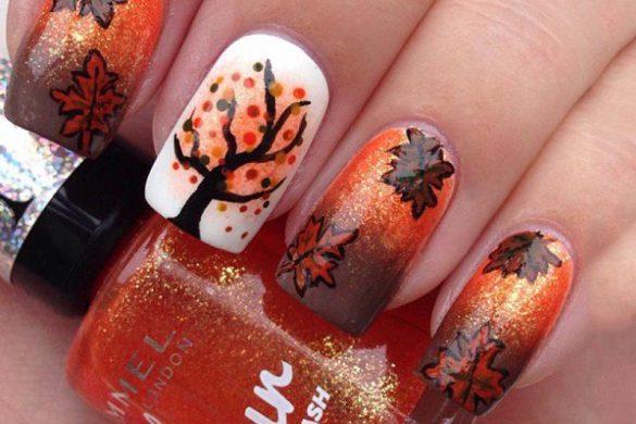 طراحی های ناخن بر اساس ستاره ماه ها ( پاییز )