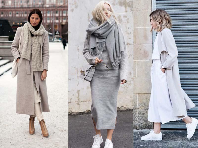 نکاتی برای پوشیدن لباس های تک رنگ