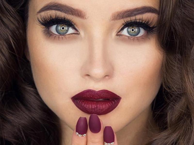 آرایش صورت مخصوص رنگ موی تیره - مد و زیبایی