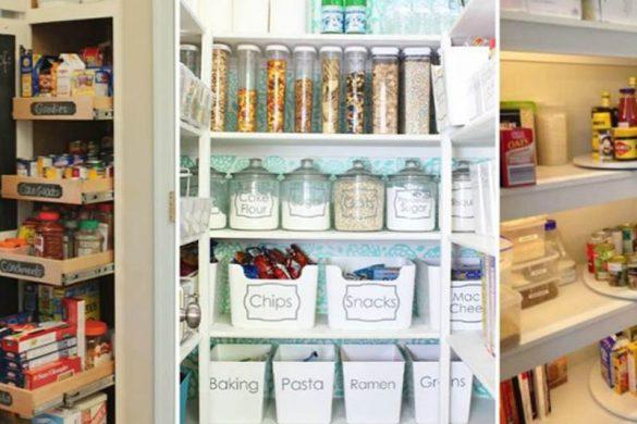 ایده هایی برای چیدن قفسه های آشپزخانه که آنها را دوبرابر بزرگتر می کند