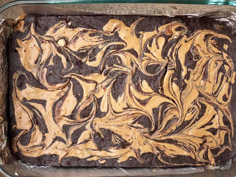 براونی کره بادام زمینی - خوراکی های مفید