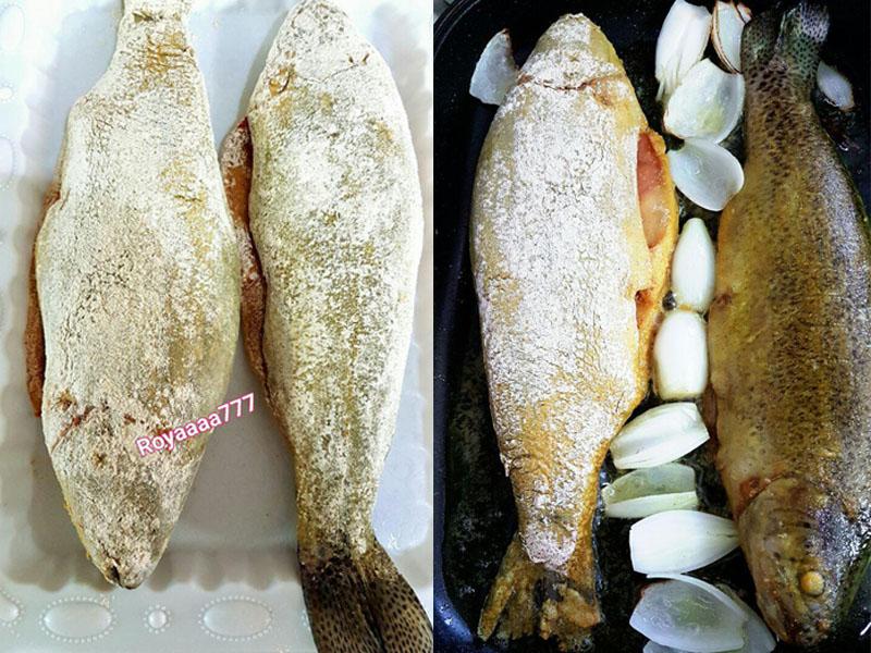 سبزی پلو با ماهی - دست پخت بانوی شهر