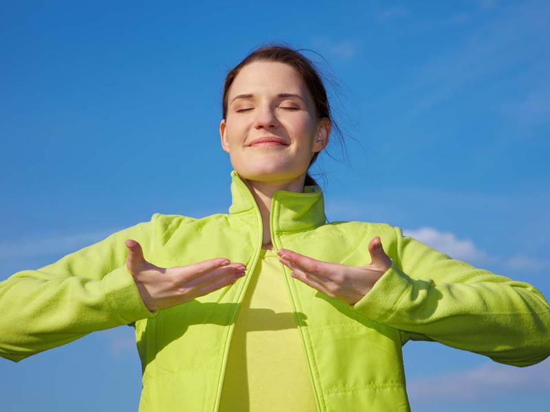 نفس عمیق برای کاهش استرس