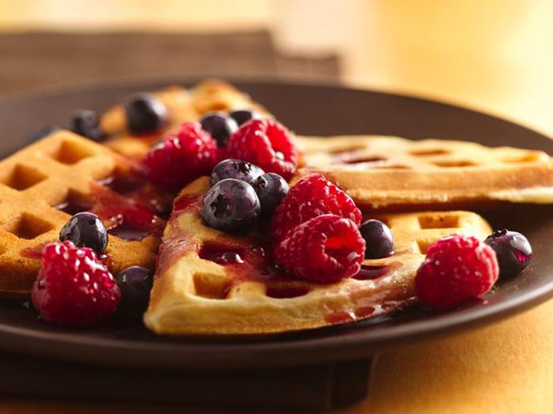 طرز تهیه وافل بلژیکی خوشمزه صبحانه