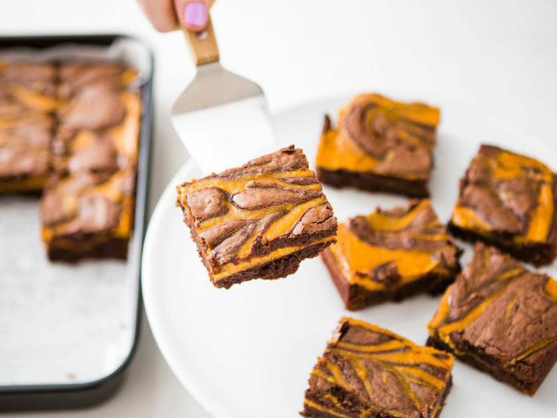 کیک براونی کدو حلوایی