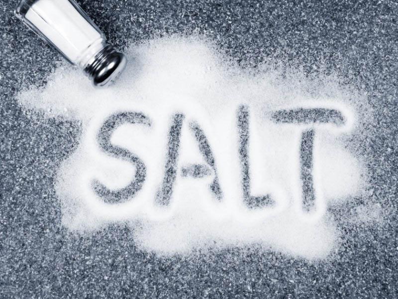 عوارض مصرف نمک